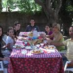 Enjoying our Sicilian cuisine after our cooking class with Angela and Sebastiano