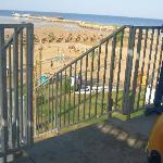 View of Beach and Pier from Water Park
