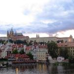 View of Prague Castle and the St. Vitus Cathedral from the Charles Bridge