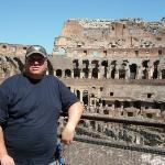 Me inside the Colosseum - Rome '09