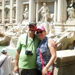 Me and Gene in front of the Trevi Fountain