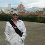 me at the Boboli Gardens at the Pitti Palace - that's the city of Florence in the background
