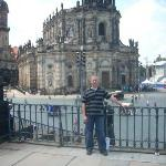 ...me with cathedral in the background...the Elbe is just to my right...