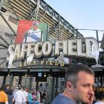 Seattle Mariners game.  Can anyone pick out the Seinfeld reference that goes with this picture