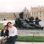Versailles fountain of neptune with hubby igi, France