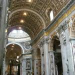 It's amazing on how big the basilica is inside
