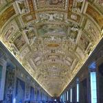 Inside the Vatican museum.  The art is unbelievable.