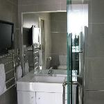 Bathroom....TV on the wall
