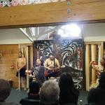 During a maori concert