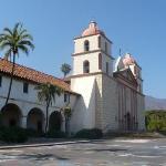 Mission Santa Barbara. One of the famous Camino Missions set up by the Spaniards in California.