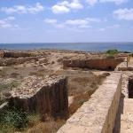 View of the Tomb of the Kings site - near the Coral Bay. The title is a misnomer, as the subterr