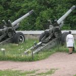 Noen av kanonene på festningen