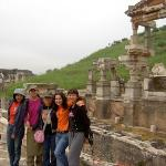 With friends... in Ephesus, ancient city