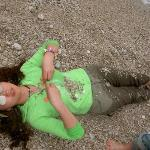 me resting on the beach of Oludeniz;