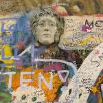 The Lennon Wall..he became the pacifist hero during Prague's totalitarian era.