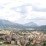 the view of cassino from monte cassino