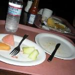 The remains of breakfast at Clifton's Cafeteria.