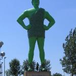 Me and a 60 foot Green Giant in Blue Earth, Minnesota
