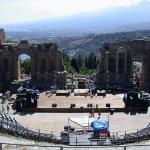 greek theatre in taormina, sicily