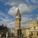 Big Ben, Parliament Square, London Eye; London, England 5-05