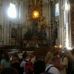 2nd largest bronze sculpture in the world - the throne of the Pope.