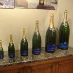 The range of bottles of Pommery.