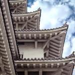 CASTILLO DE HIMEJI 姫路城 Himeji-jō  Detalle de los tejados.