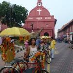 in front of Christ Church, Melaka