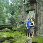 Me and Wifey at Ta Prohm the Jungle Temple.
