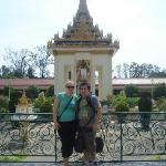Me and Wifey just outside the Silver Pagoda.