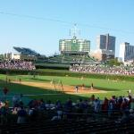 Behing the Home plate at Wrigley field