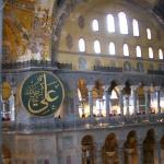 Here you can see the Muslim Calligraphy  in Haghia Sophia