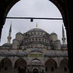 The Blue Mosque's domes were based off of Haghia Sophia. This Mosque is the main mosque in Istan