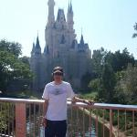 Daniel in front of Cinderella's castle
