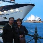 our cruise ship and Sydney, Australia Opera House