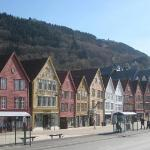 The 11 old houses at Bryggen.