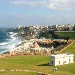 Looking at San Juan from El Morro