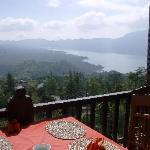 Breakfast overlooking the volcano