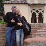 La alcazaba de Málaga, hermosa ciudad y más hermosa la mujer que me acompaña