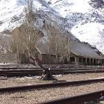Estacion Polvareda , hay que  poner alli de vuelta un tren a vapor