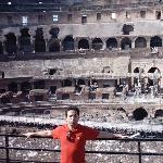 vista de las ruinas del coliseo Romano