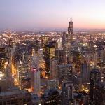 Chicago by Night...aus der Signature Lounge im 95. Stock des John Hancock Centers.