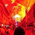 Old Vegas light show