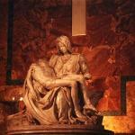La pietá, en todo su esplendor. Basilica de San Pedro, Cd. del Vaticano.