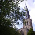 Twisted spire, Chesterfield, Derbyshire  (taken blind out of the car window while facing the ot