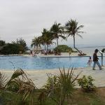 In the resort.