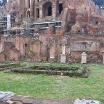 El jardín del palacio de las Vestales, ahí se bañaban desnudas