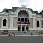the opera house in front of the square