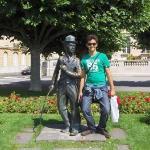 Charlie Chaplin Statue Aufnahme