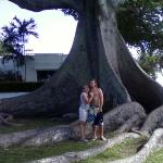 Grant and I at big tree.  From the Cell